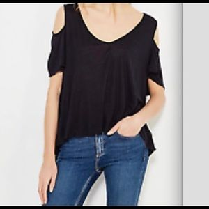 NWT Free People Bittersweet cold shoulder shirt